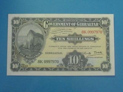 Gibraltar Banknot 10 Shillings UNC 1934 - 2018 NEW