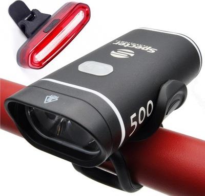 Zestaw LED tył przód XPG500 na USB lampka rowerowa