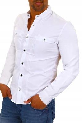 Koszula Męska Elegancka Biała Ślub Prezent Wesele 7262139796  3QAat