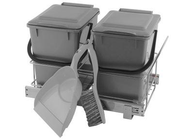 Корзина Связыватель для мусора выдвижной - ТИХИЙ закрытие
