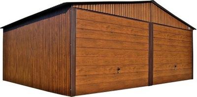 Гаражи из листового металла, 6x5 гараж деревянных Орех