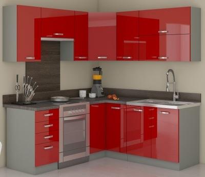 Мебель Кухонные шкафы Кухонные RIVA красный пол