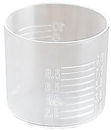 Kieliszek miarka do porcjowania z cechą 10ml 100sz