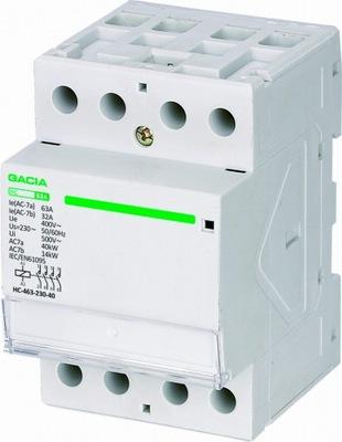 MODULÁRNY STYKAČ HC-463-230-40 230 V 4 3F 63A 3P