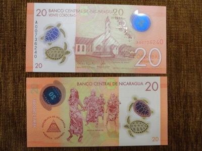 283.NICARAGUA 20 CORDOBAS UNC ПОЛИМЕР