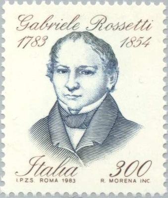 Италия 1983 Марку Мне 1826 ** Россетти поэт