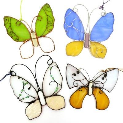 Кулон Бабочка витраж стекло , разные цвета 10x10cm