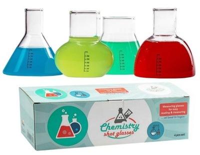 KIELISZKI CHEMIKA MENZURKI SZKLANE NA DRINKI WÓDKĘ