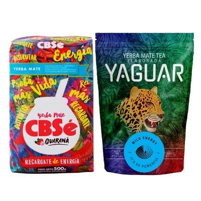 Yerba Mate Cbse Энергия + Yaguar Wild 2x500g 1кг
