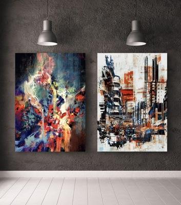 Plagáty abstraktné, sada 2 plán B2 - 50x70 cm