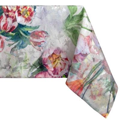 Скатерти Скатерть пришитый ?? размер AZ-158 ЦВЕТА цветы