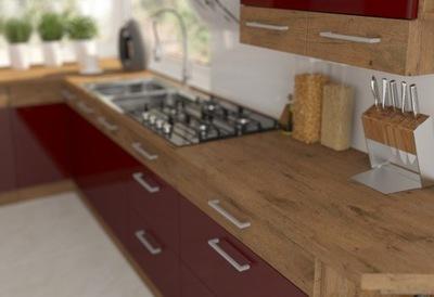 Мебель Кухонные Ivo Бордовый блеск 180 стоящие . закрытие