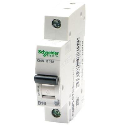 Выключатель максимального тока SCHNEIDER 1П B16A предохранитель