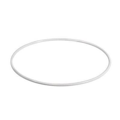 ОБРУЧ МЕТАЛЛИЧЕСКИЙ кольцо для ЛОВЕЦ СНОВ 25см белая