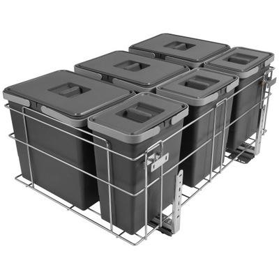 Корзина Сортировщик на мусор 80 EXCLUSIVE 3x15L+3x6L