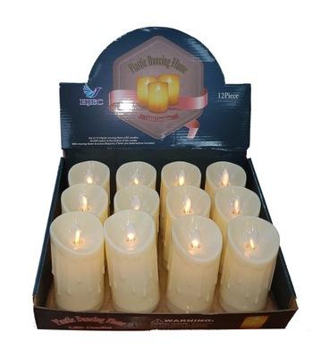 Свеча LED 8 см Подвижная пламя украшение 12шт компл