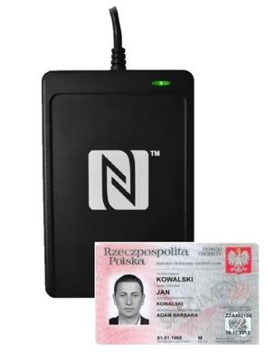 Czytnik zbliżeniowy e-dowodu NFC zgodny z GOV