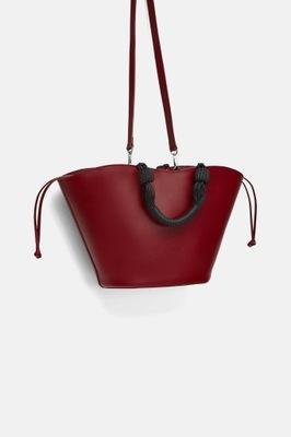f2702af46c06d czerwona torebka zara shopper - 7464651720 - oficjalne archiwum allegro