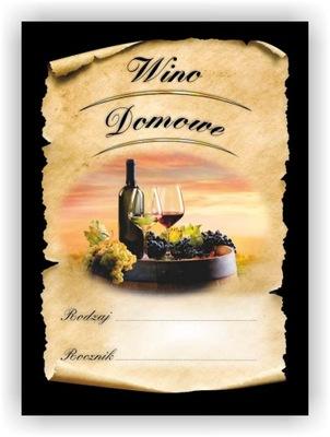 МЕТКА наклейка вино домашние Тип Год 10 штук