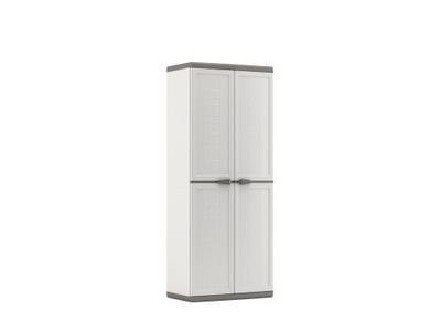 шкаф пластиковая высокая 166 см  белая