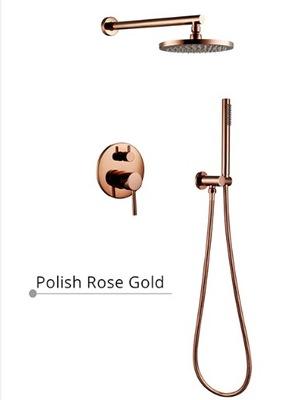 Podomietkový sprchový set ružové zlato ružové zlato