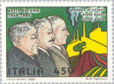 Włochy 1984 Znaczek Mi 1885 ** rolnictwo przemysł