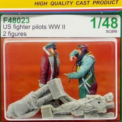 ??? F48023 US Fighter Pilots WW II 1 :48 24 часа