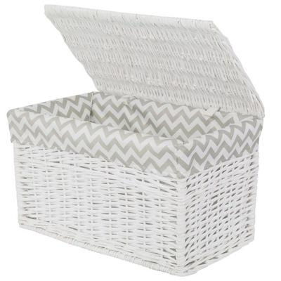 коробка плетеная ЧЕМОДАН белье Белый ЗИГЗАГА 76см