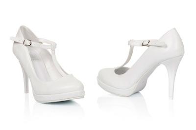 dd50d4af buty ślubne obuwie damskie ślub cielisty 42 płaski - 5127654476 ...