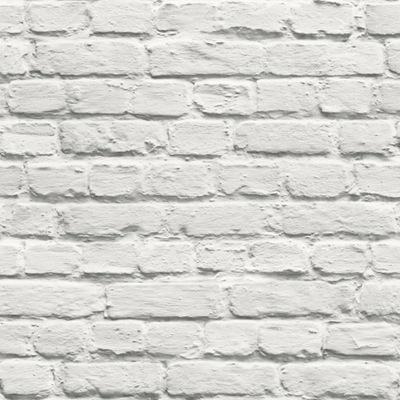 ОБОИ белая Кирпич Стена камень ЭФФЕКТ КАК 3D 102539
