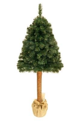 Vianočné stromčeky - Strom umelé BOROVICA 160 CM na pni