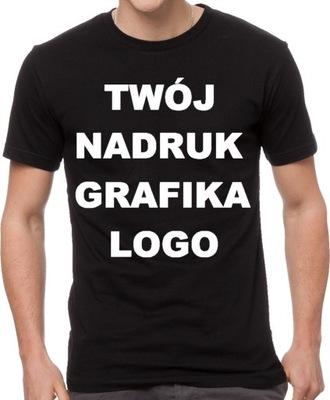 T-shirt Koszulka z WŁASNYM NADRUKIEM napisem L!