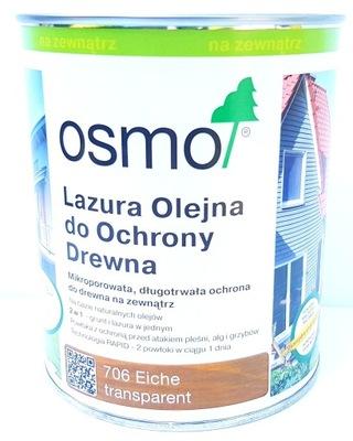 Osmo 706 Lazur Olej 0.75 l x 2 Ks = 1,5 l Dub