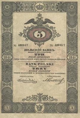 KRÓLESTWO POLSKIE - 3 RUBLE - 1841 rok P30