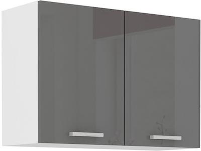 СЕРГО шкаф кухонная instagram ??????????  80 см Серый блеск