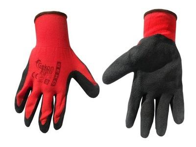 перчатки защитные GEKO размер LATEX 9 красное