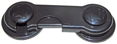 Безопасность ШКАФОВ и выдвижных ящиков мебели, блокировка черная