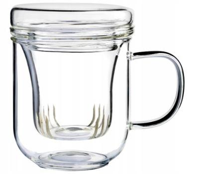 КРУЖКА стеклянный заварником травы чая стакан