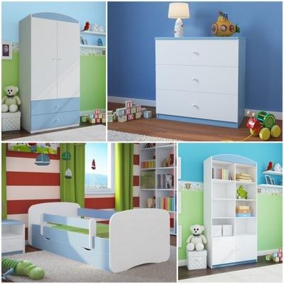 4el nábytok, skrine, poličky na knihy hrudníka posteľ 180 modrá