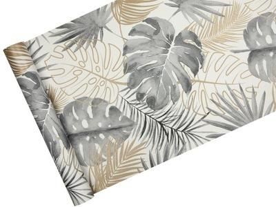 Обои в тропическом Серые листья МОНСТЕРА + блеск