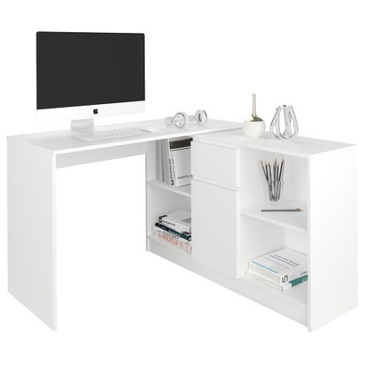 Рабочий стол угловые и комод комплект 120 белое N14