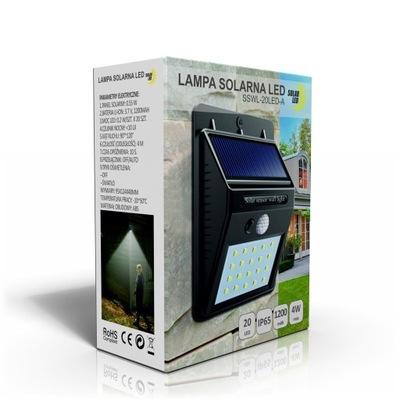 солнечная лампа светильник с датчиком сумерек 20LED