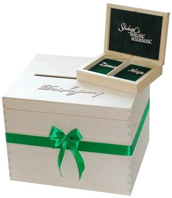 Pudełko na koperty obrączki eko różne kolor NOWOŚĆ