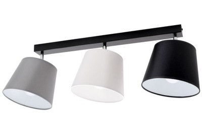 stropné svetlo, tieň, luster 3 lampa odtiene kužeľ