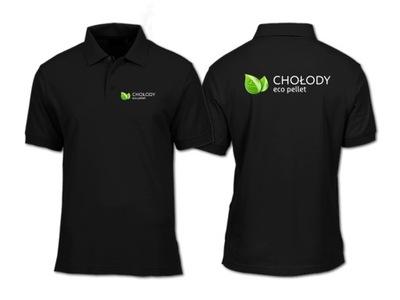 Koszulka koszulki POLO z nadrukiem DWUSTRONNYM
