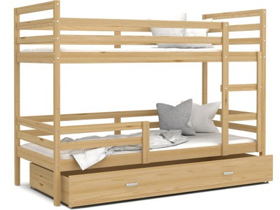 Drevená poschodová posteľ pre deti JACEK matrac