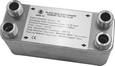 Výmenník tepla 25kW 20 platní 4x 3/4 'PL