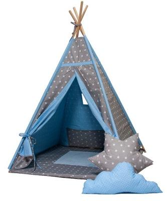 Namiot w gwiazdy 130 cm jasnoszary 1000189 » Kids Concept