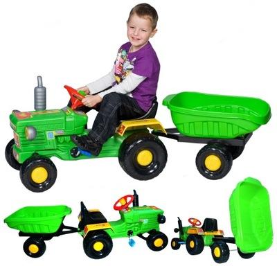Nastaviť Spoľahlivý traktor jednotky na pedál trailer BICYKEL TROJKOLKU S SLONA SŁONIKIEM HIT BUJAK