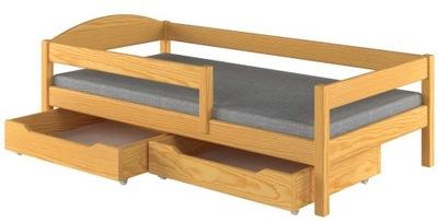 Posteľ jednolôžková drevená mládež 180x80